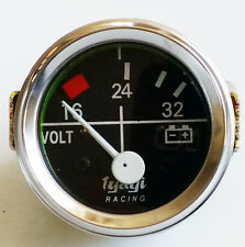 "CAR AUTO VOLT VOLTMETER VOLTAGE METER 16-24-32 BAR 24volt 52MM 2"" DIA CHROME"