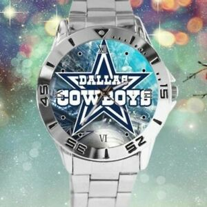 NFL-Dallas-Cowboys-Watch-Mens-Stainless-Steel-Band