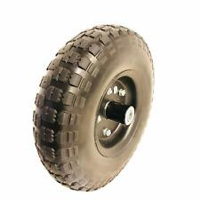 """10/"""" Flat Free Hand Truck Tire and Wheel with 5//8/"""" Center Shaft Hole"""