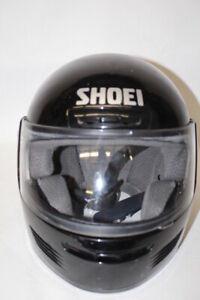 Shoei-Duotec-Elite-Series-XL-Black-Motorcycle-40mm-Helmet-Full-Face-Clean