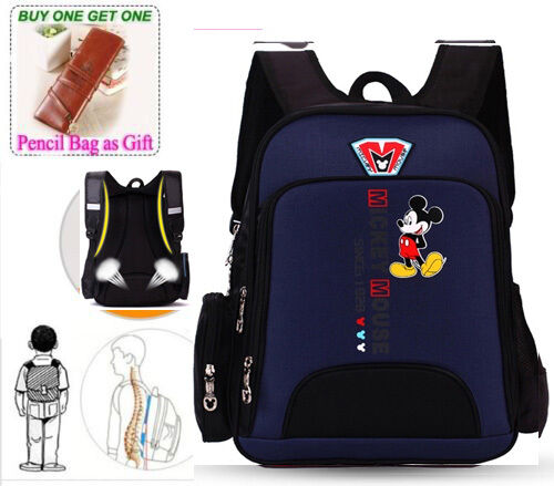 Disney Kid 's Korean Version Backpack Grades 1-3 Primary Boy Girl's Schoolbag
