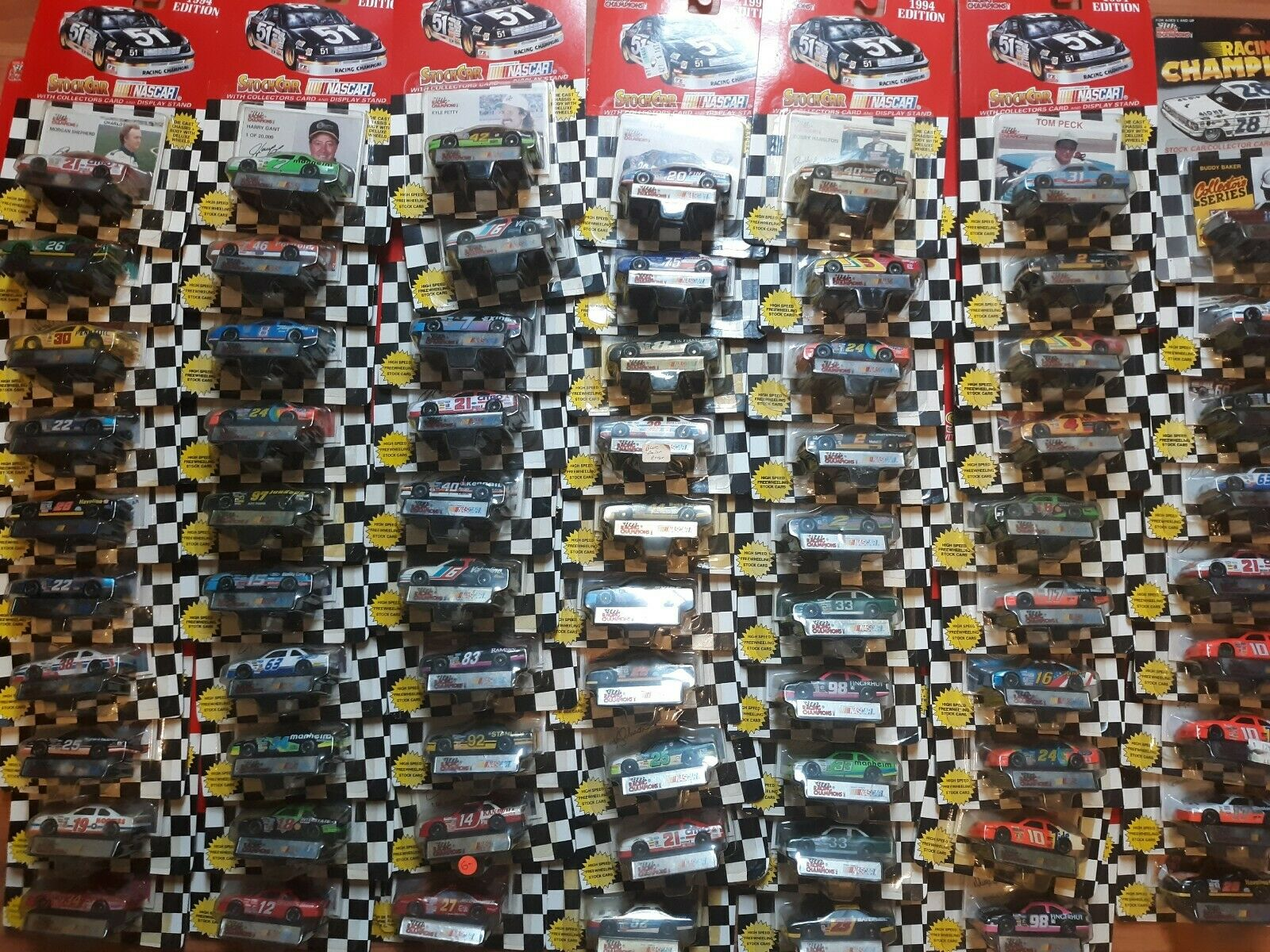 Racing Champions 1994  1 64 Diecast NASCAR lot of 69