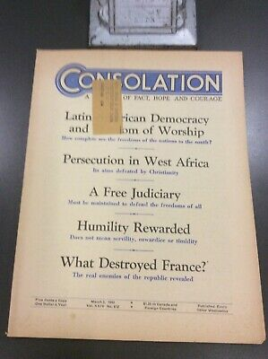 1945 CONSOLATION Magazine #s 667 678 682 Jehovah WATCHTOWER Rare PICK 1
