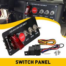 3 Gang Rocker Switch Panel Circuit Breaker Led Waterproof For Rv Car Boat Marine