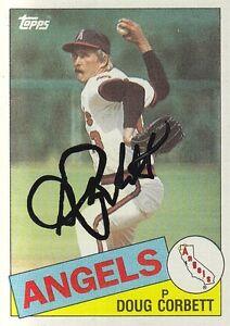 California-Angels-Doug-Corbett-Signed-Autograph-1985-Topps-Card-682-Pitcher