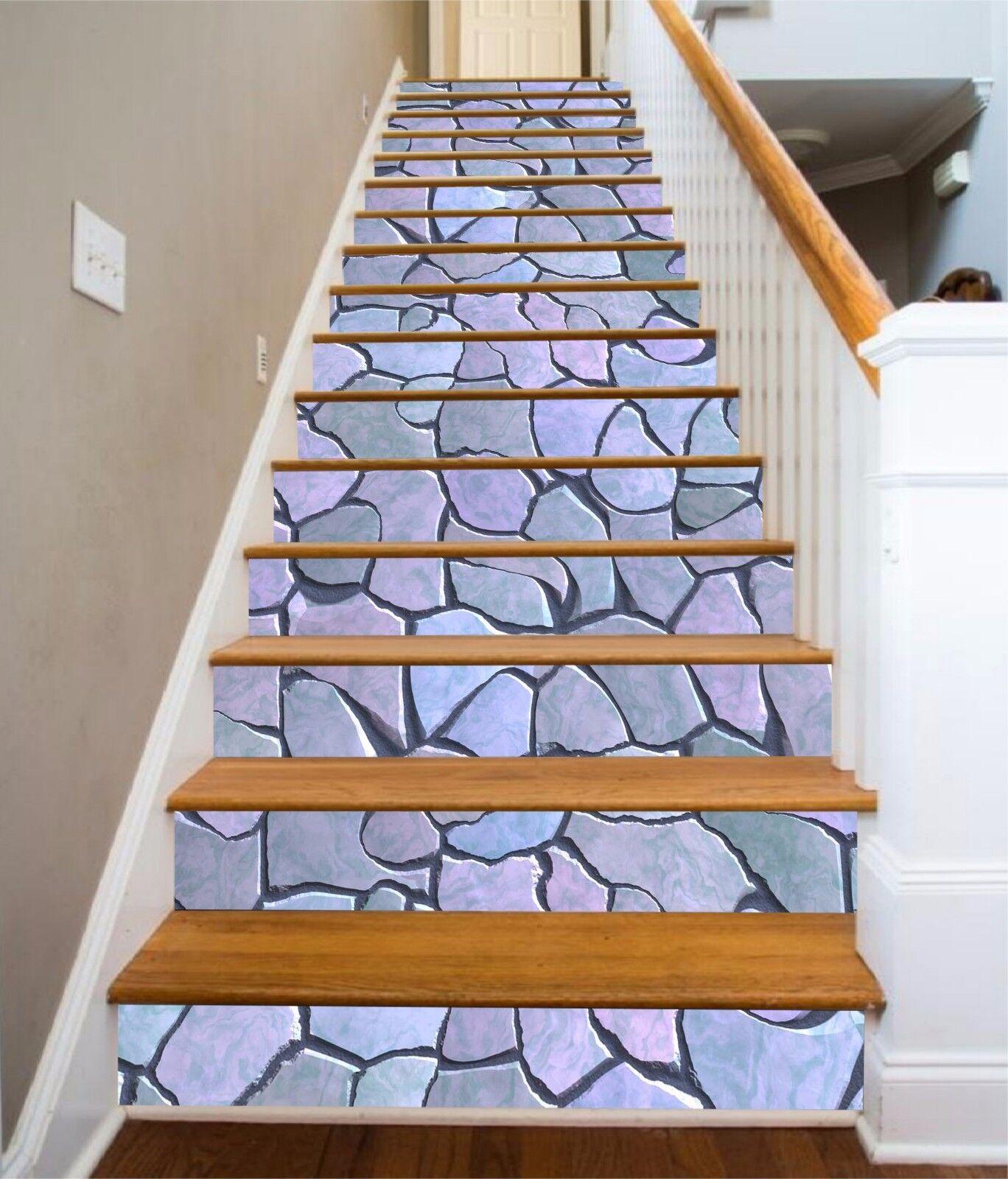 3D Stone  5054 Stair Risers Decoration Photo Mural Vinyl Decal Wallpaper AU