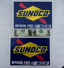 """SUNOCO RACING GAS 2 Decals (Stickers) NASCAR, Slot Car Toolbox, Pit Case 6"""" x 4"""""""
