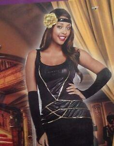 Halloween-Costume-Womens-Size-L-12-14-Large-Miss-Behavin-Cosplay-Black-Dress