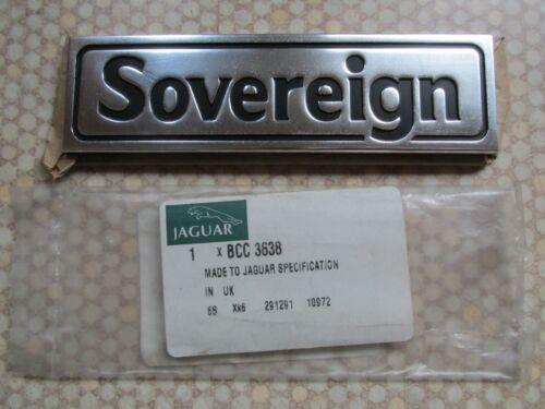 Jaguar XJ12 serie 3 nos tarde soberano Placa//Emblema-BCC3638