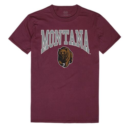 University of Montana Bear NCAA Cotton College Logo Licensed Tee T-Shirt S 2XL