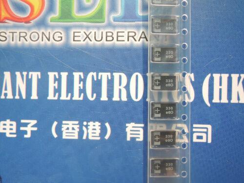 10pcs Original 2.5V 330UF 2.5V330UF 7*4*1.8 D Tantalum Capacitor OE128 OE907