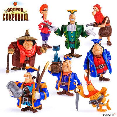 Cartoon Character Collection Figure PROSTO TOYS Treasure Island Pirates