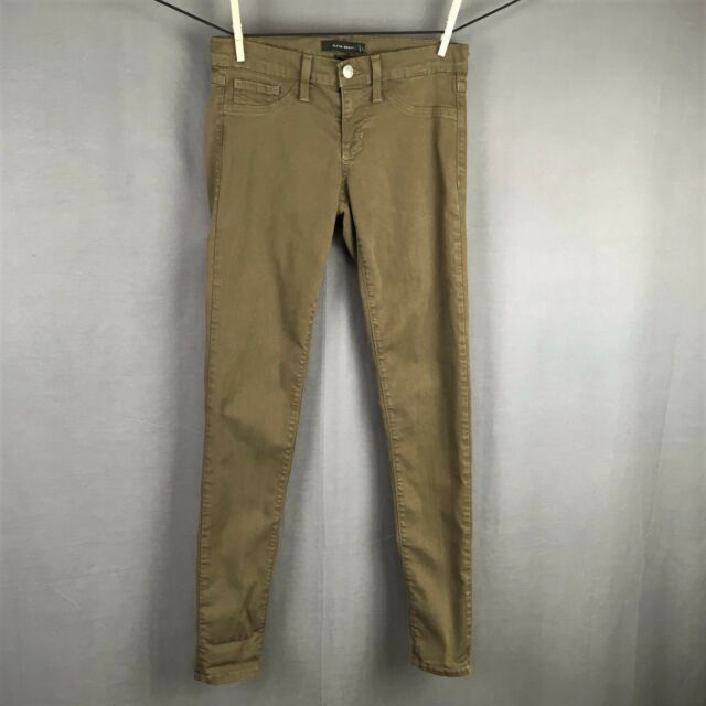Flying Monkey Jeans Size 26 Olive Green Womens Skinny Slim Fit Jegging