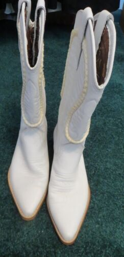 Nevada Blue Size 7 White Cowboy Boots