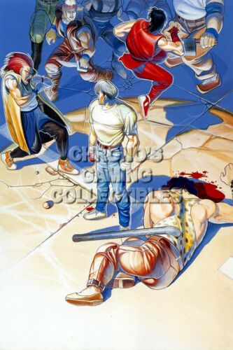 ARC011 RGC Huge Poster Final Fight I II III Guy Arcade Original SNES Sega CD