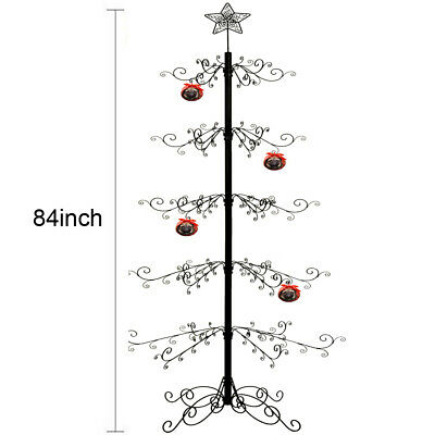 Metal Ornament Tree Display Stand Wrought Iron Christmas ...