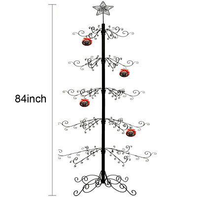 Metal Ornament Tree Display Stand Wrought Iron Christmas Trees 174 Hook 84 H Ebay