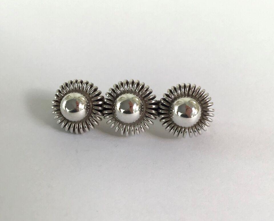 Broche, sølv, Vintage