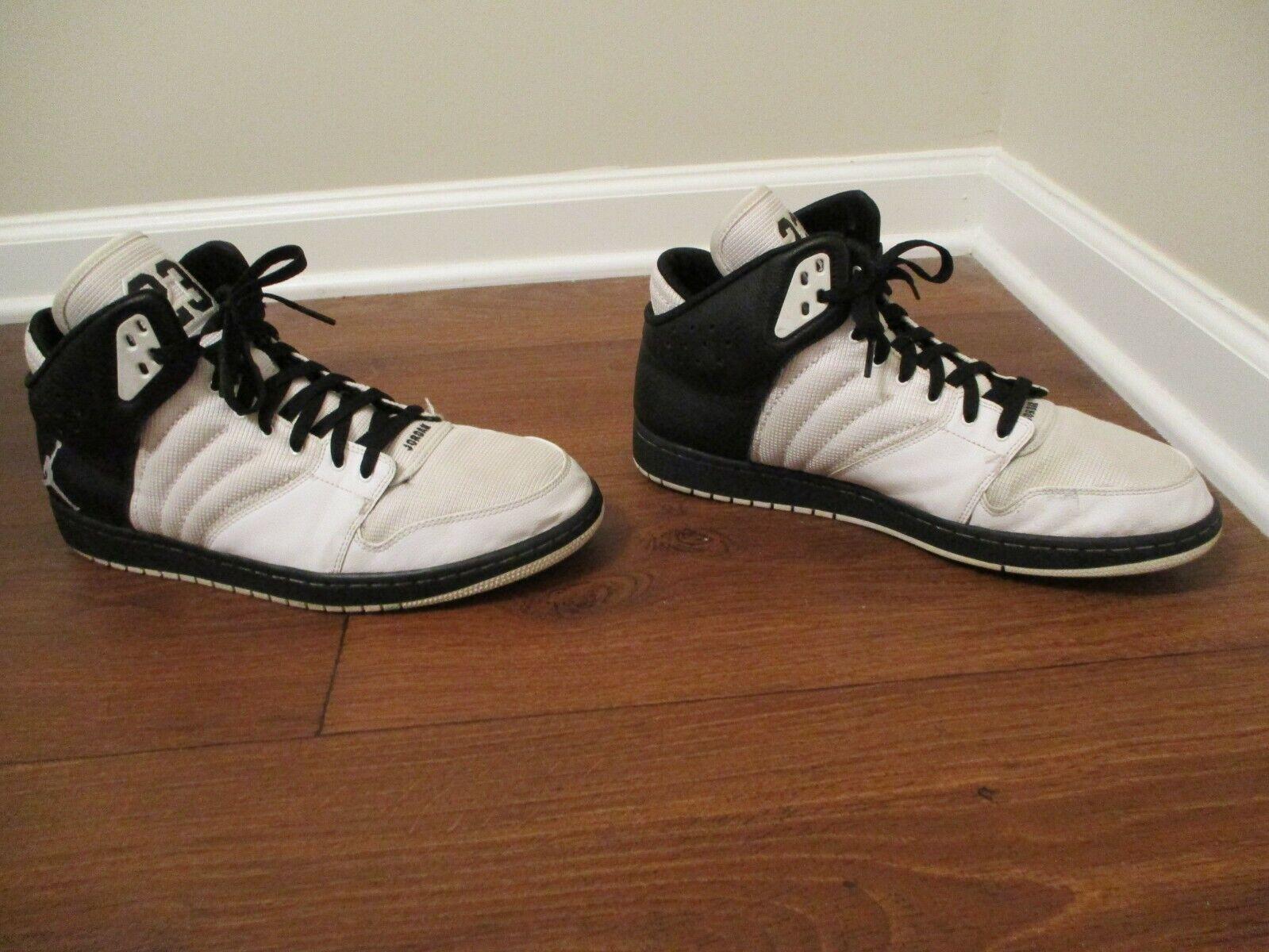 Used Worn Size 13 Nike Jordan 1 Flight 4 shoes White Black