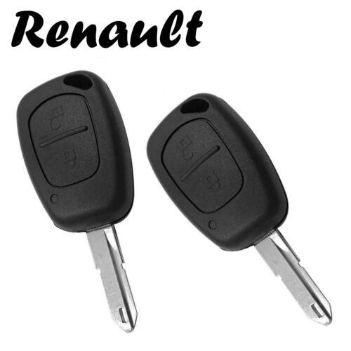 2x Renault Autochlüssel Ersatz Gehäuse 2-Tasten Fernbedienung mit Rohling KS08