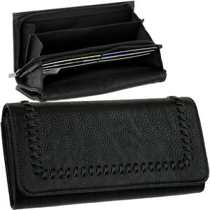 ESPRIT-Damen-Geldboerse-Schwarz-Portemonnaie-Geldbeutel-Geldtasche-Brieftasche