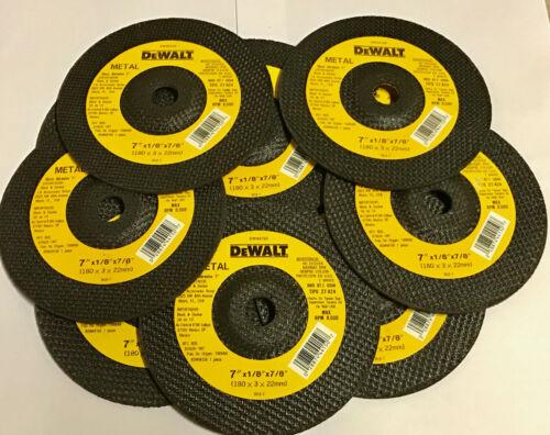 "10 Dewalt 7/"" x 1//8/"" x 7//8/"" Metal Cut-Off Wheel Discs DW44150"