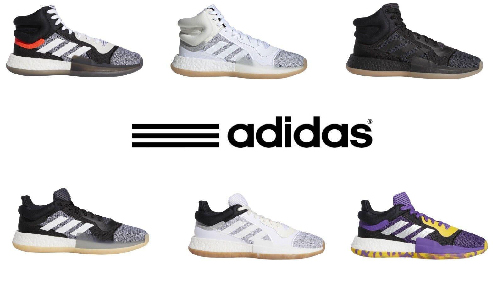 Adidas Zapatos de baloncesto para hombre Marquee Boost Mediados o bajo Top todos los tamaños Colors