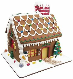 Fox Run 19 Pc Gingerbread House Cookie Cutter Mold Bake Set w/ Icing Set - NEW