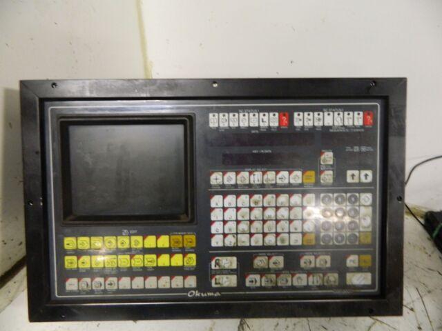 Okuma Osp3000 Control Panel W/ Monitor Eua-ic0007 Eua-1c0007 0153