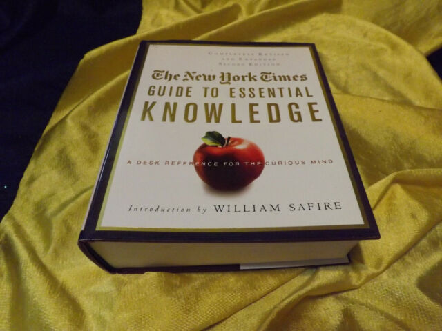 The New York TImes Guide To Essential Knowledge HC Book