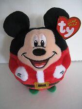 TY MICKEY MOUSE BEANIE BALLZ CHRISTMAS PLUSH TOY DISNEY 2013 BALL