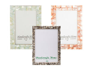4x6-Picture-Frames-Chic-Photo-Frame-Mother-of-Pearl-Handmade-Vintage-Gifts