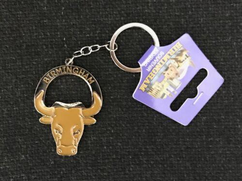 3D Souvenir Birmingham Bull Bottle Opener Keyring