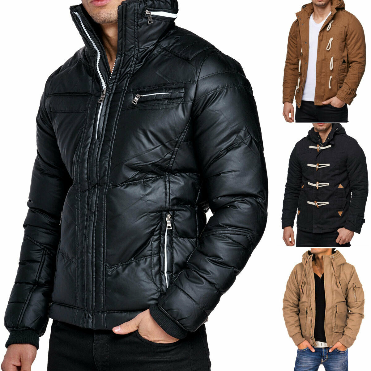 Young &  Rich Headline señores chaqueta invierno chaqueta Parka capucha forradas Bomber  barato en línea