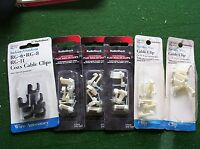 Lot Of 6 Packages Nail In Clip Cable Wire Coax Speaker Radio Shack