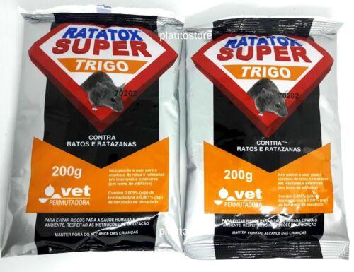 200g Bag Premium Strong Garden WHEAT Rat Pest Poison Kill Mice Bait Rodent