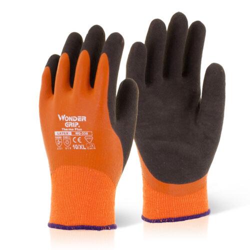 Wonder Grip Waterproof Orange Thermal Nylon Lined Safety Work Scaffolders Gloves