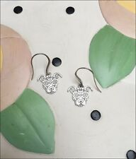 Sugar Skull Pit Bull Sterling Silver Earrings - New - FREE SHIPPING