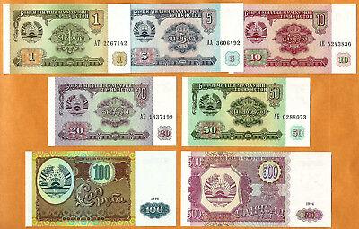 Tajikistan 500 Rubles P-8 1994 Lot 10 PCS Banknotes UNC