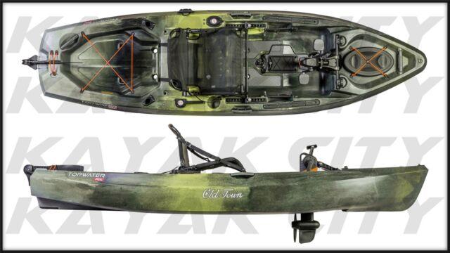 Old Town Topwater 106 PDL - Pedal Fishing Kayak w/FREE Fiberglass Paddle