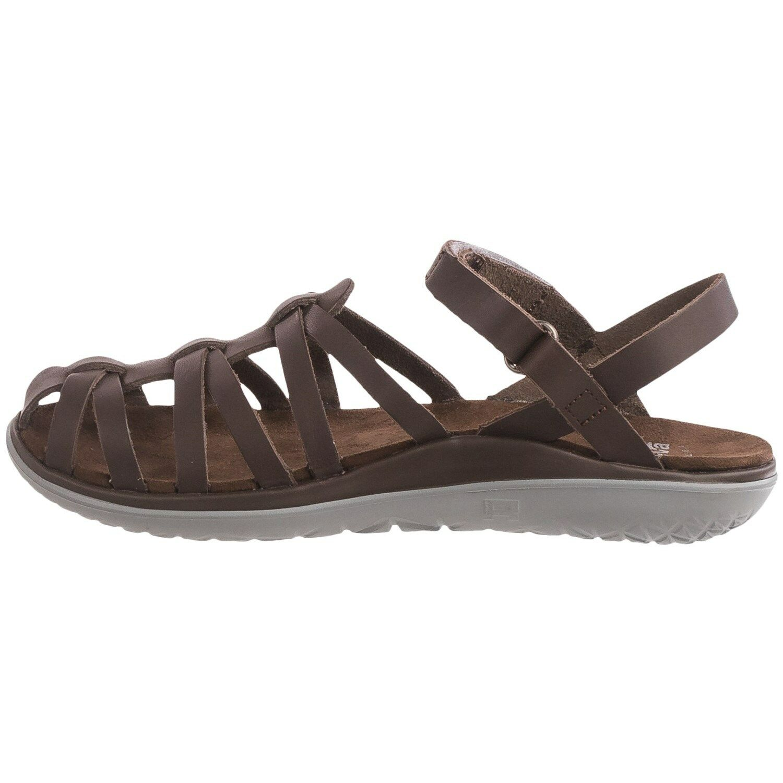NEU TEVA 10 41 SANDAL FLIP FLOPS Schuhe Leder Braun 110 Retail Stella Lux