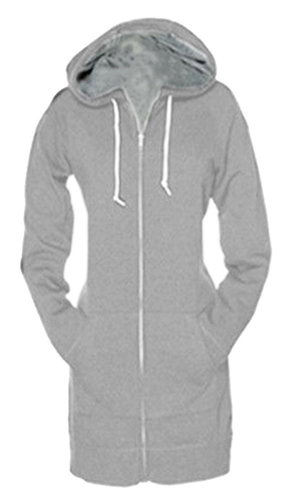 Womens Zip Up Long Sleeve Hoodie Sweatshirt Jumper Sweater ...