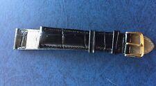 Bracelet De Montre GENUINE LEATHER ,18 mm ,noir
