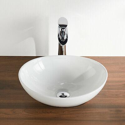 Deervalley White Ceramic Porcelain Oval Vessel Bathroom Sink Above Counter Ebay