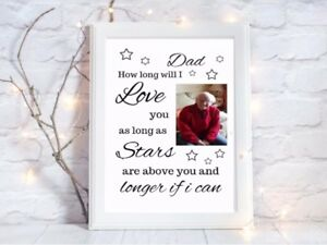 Personalised-print-In-Memory-how-long-will-i-love-you-Heaven-Picture-unframed