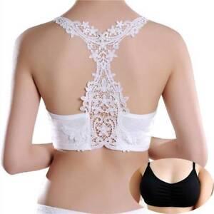 15be341e02 Women Girls Lace Bralette Bra Bustier Crop Top Cropped Vest Halter ...