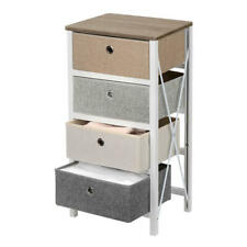 4-Drawer Nightstand End Table Storage Entryway MDF Pine Organizer