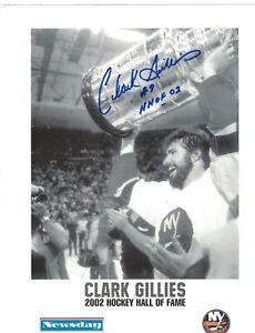 Clark-Gillies-New-York-Islanders-Signed-8-1-2-034-x-11-034-Photo-W-Our-COA-WD6