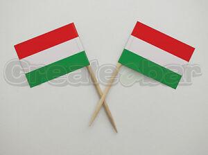 72-Hungarian-Flag-Picks-Buffet-Sandwich-Cupcake-Toppers-HUNGARY-Flags