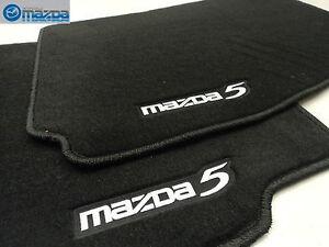 Mazda-5-2006-2010-Nuevo-OEM-Frente-Negro-Suelo-Alfombrillas